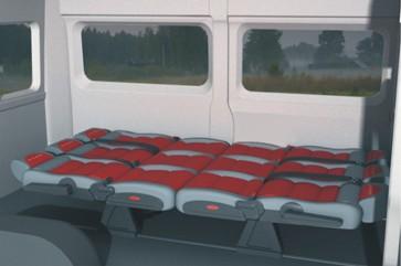 Большой спальное место в автомобиле Fiat Ducato Tour Transformer 5 in 1