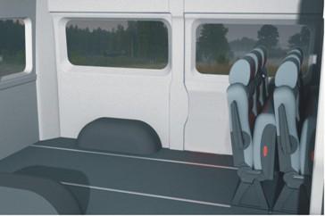 Грузовое отделение в микроавтобусе Фиат Дукато